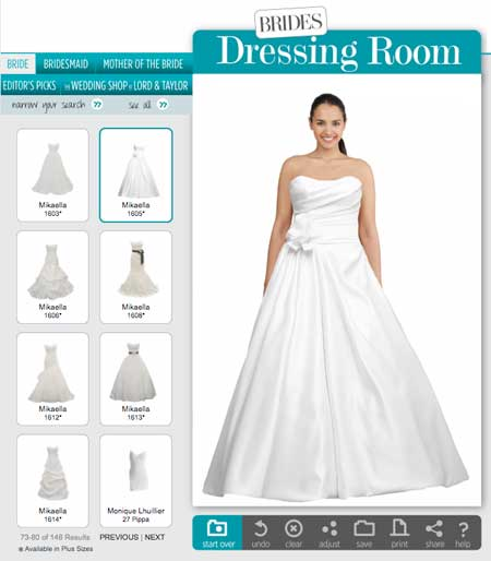 Before you say i do virtually try on wedding dresses and for Design your own wedding dress game
