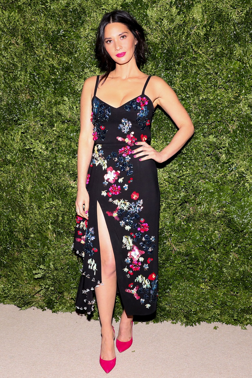 Olivia Munn flashes legs at the 13th Annual CFDA Vogue Fashion Fund Awards