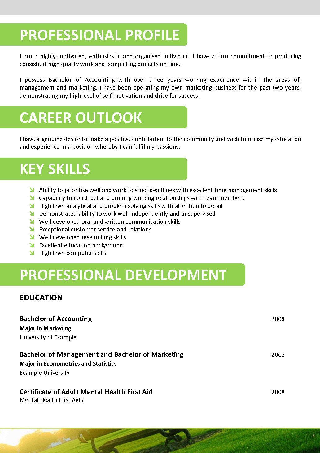 resume writing with resume templates - Resume Writing Templates