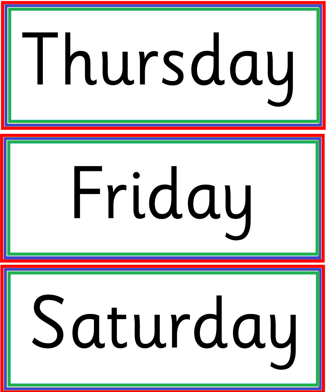 Kindergarten Worksheets Days Of Week
