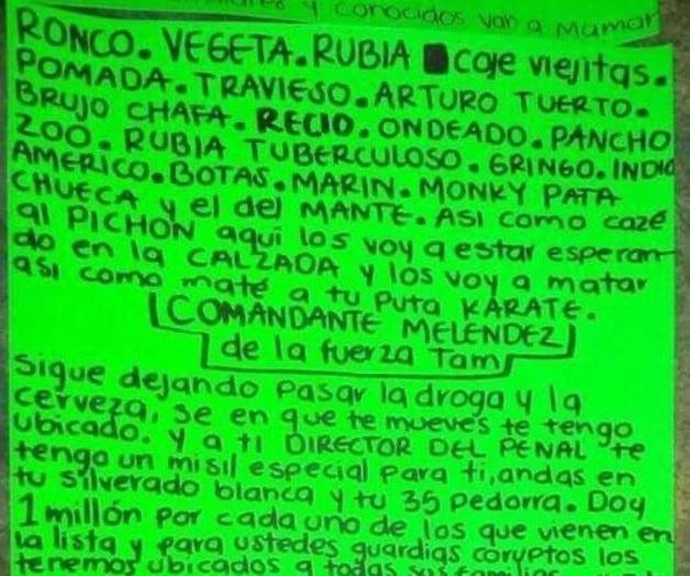 Narcos se retan en narcomantas en Tamaulipas y ofrecen recompensas de un millón por ejecución de blancos