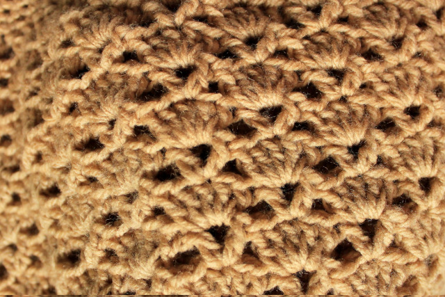 Crochet Stitches V-St : ... with the band, about 5-6 rows of single crochet would be enough