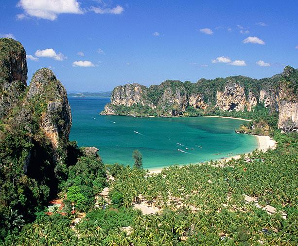 Railay Beach West, with Ton Sai Beach in the distance, Krabi