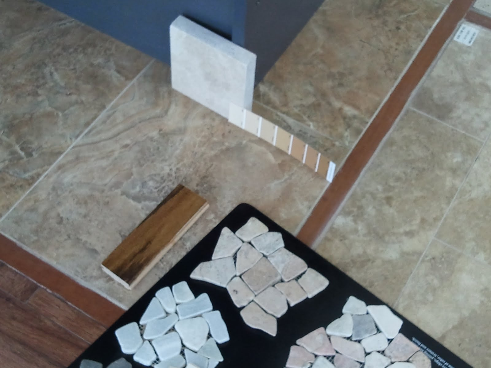 Travertine Brown Glass Mosaic Kitchen Backsplash Tile  X