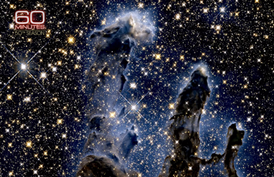 Infrared imagery of the Eagle Nebula stardust clouds (the so-called 'Pillars of Creation')