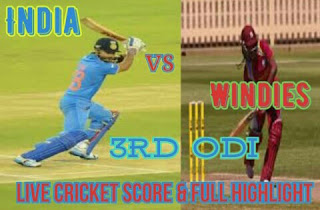India vs WI 3rd ODI