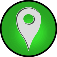location glowing icon