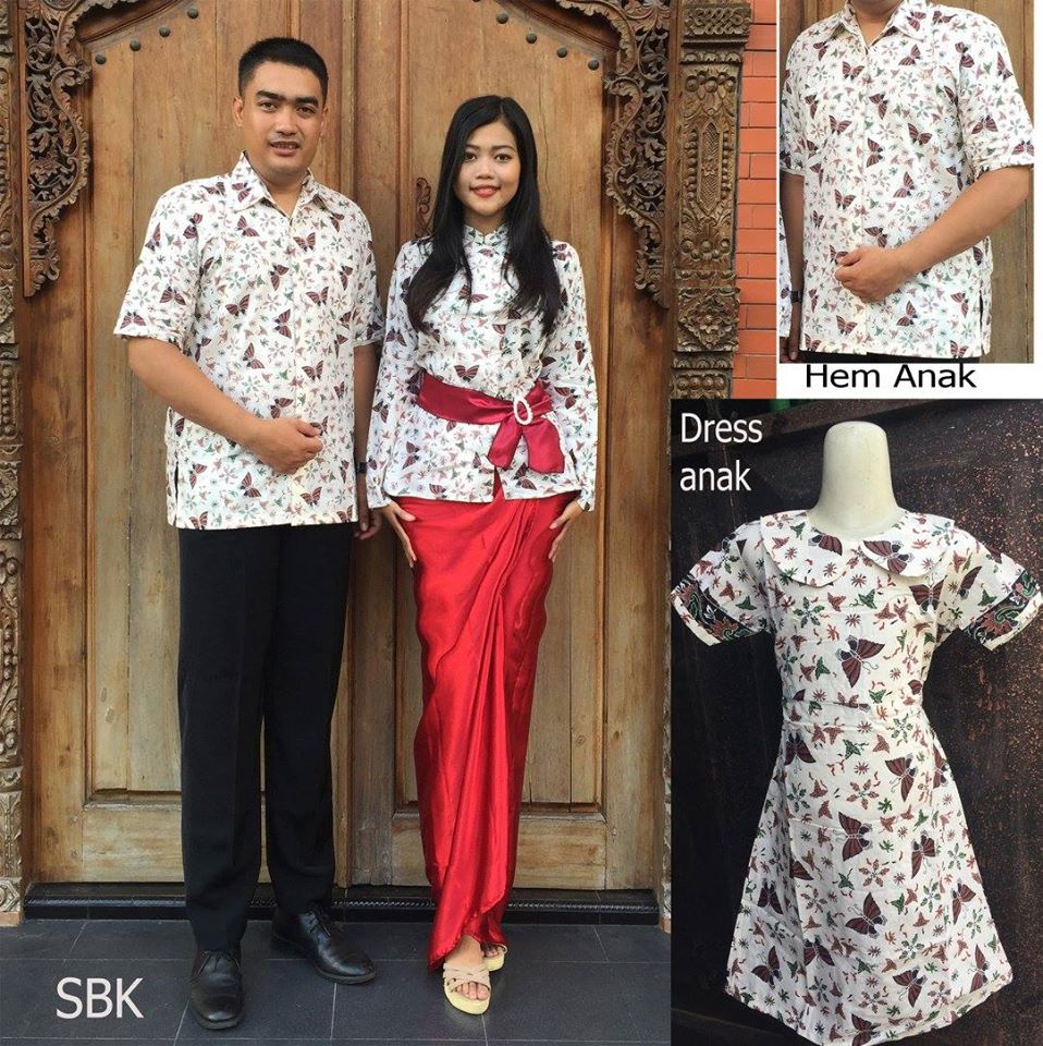 Model baju batik modern tahun ini - Model Baju Batik Keluarga Modern 2016 Sbk