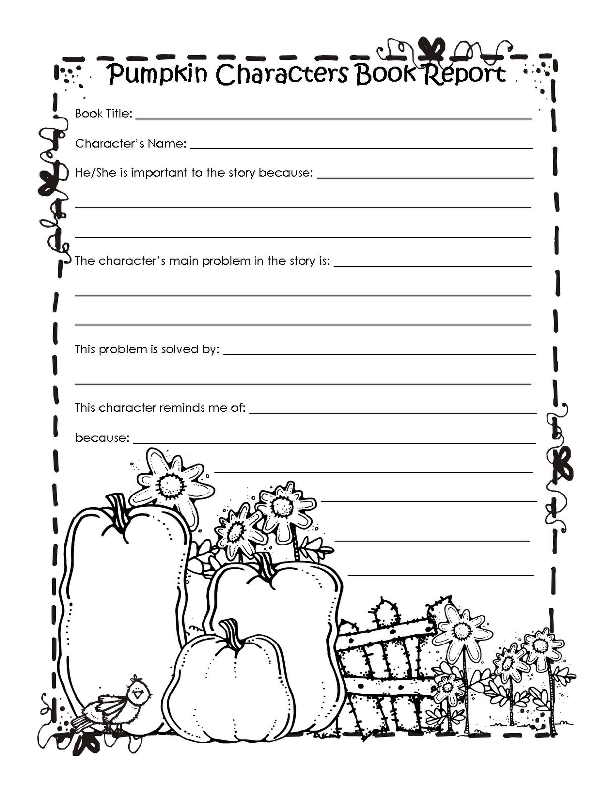 2nd Grade Book Report Template