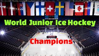 World Junior, Ice Hockey, Championship, Winners, champions, WJHC, List, host countries, cities, venues, 1977-2020.