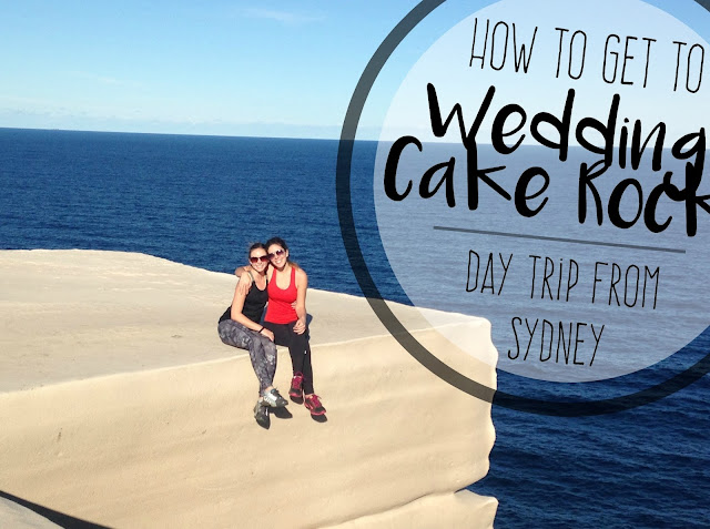 Two women sit on Wedding Cake Rock in Australia's National Royal Park.