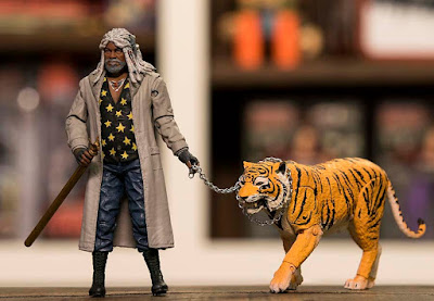 New York Comic Con 2017 Exclusive The Walking Dead Ezekiel & Shiva Action Figure 2 Pack by Skybound x McFarlane Toys