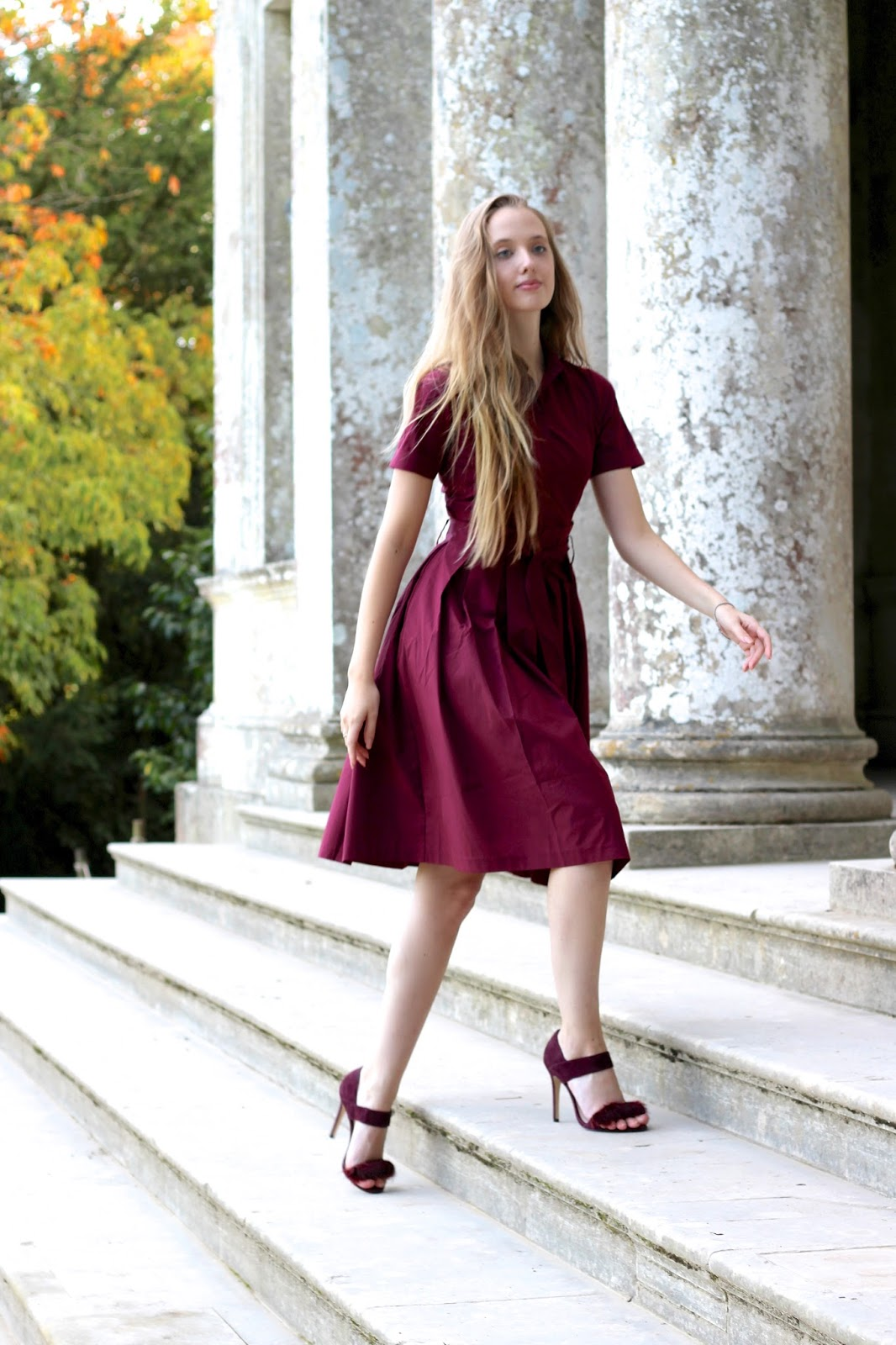 Lost Ink Burgundy Party Dress 2016