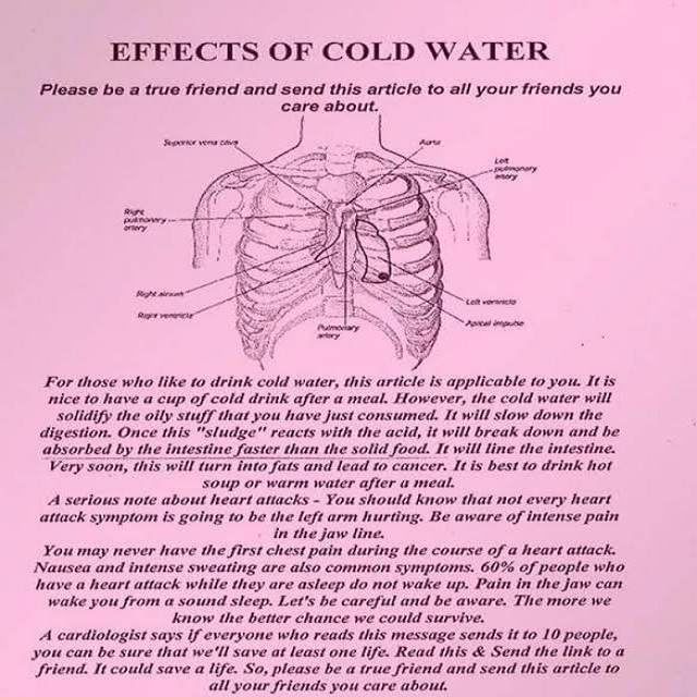 Benefits of Warm Water And Bad Effects of Cold Water