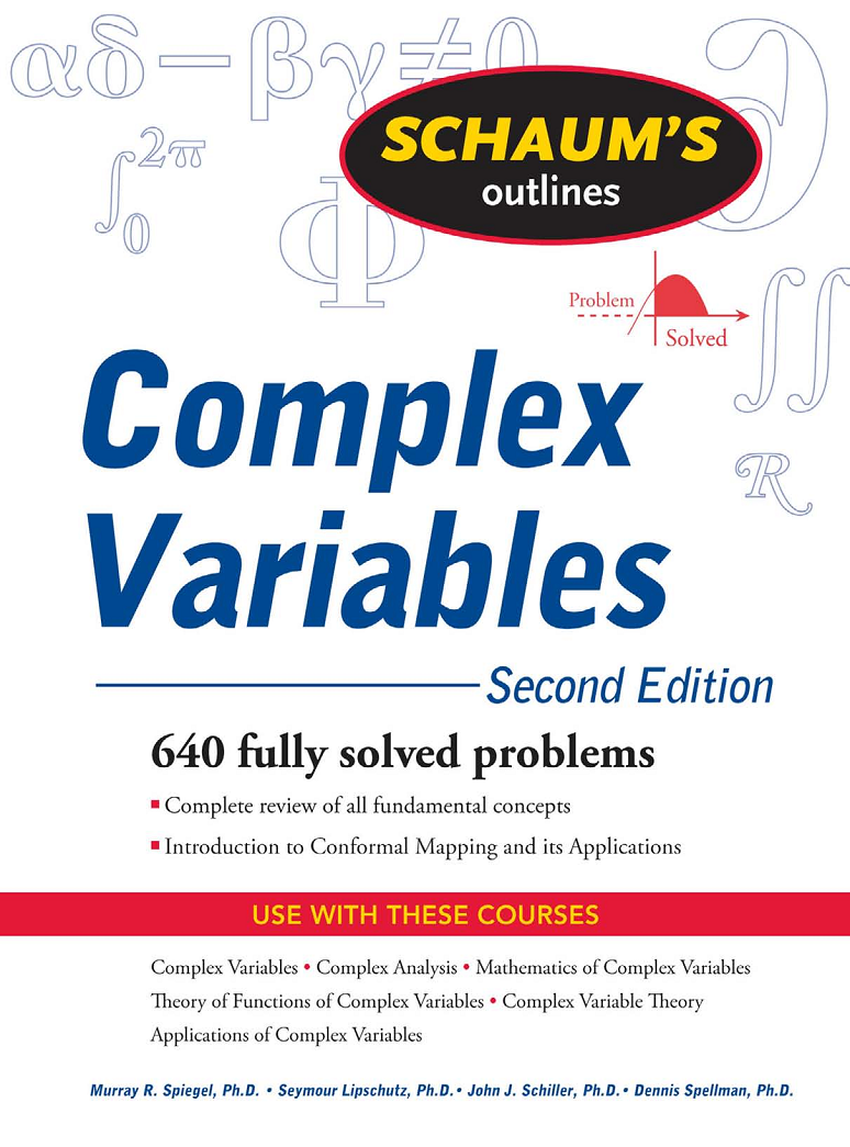 pdf book : Schaum's Outline COMPLEX VARIABLES, 2nd Edition ~ House