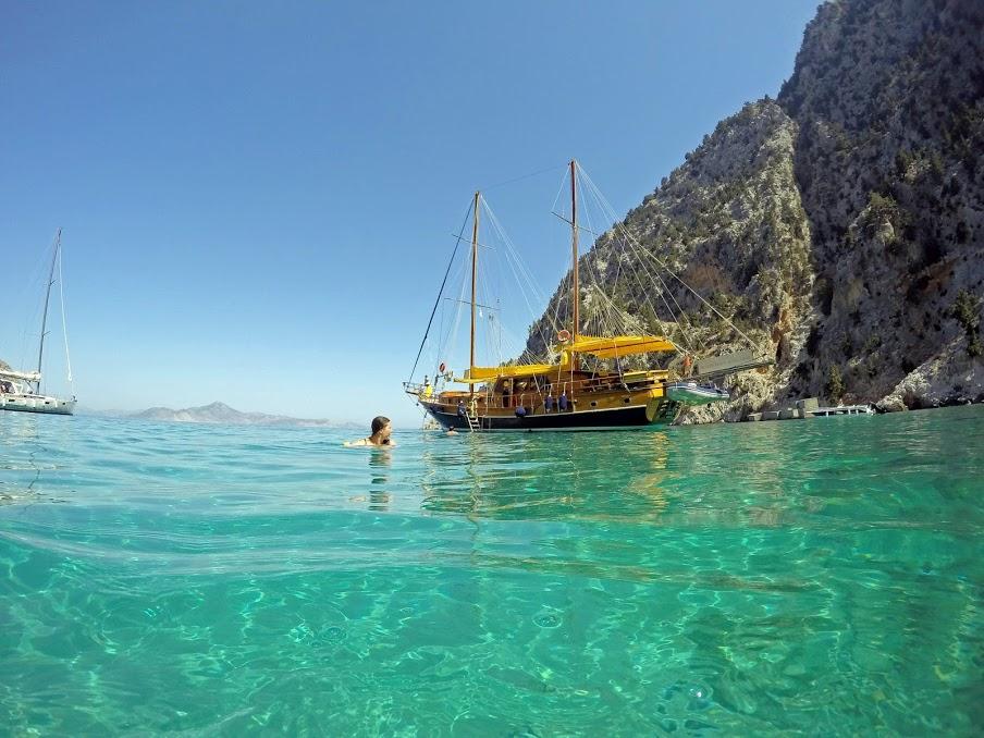 Sailing in beautiful water in Turkey