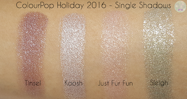 ColourPop Holiday 2016 - Single Shadows | Kat Stays Polished