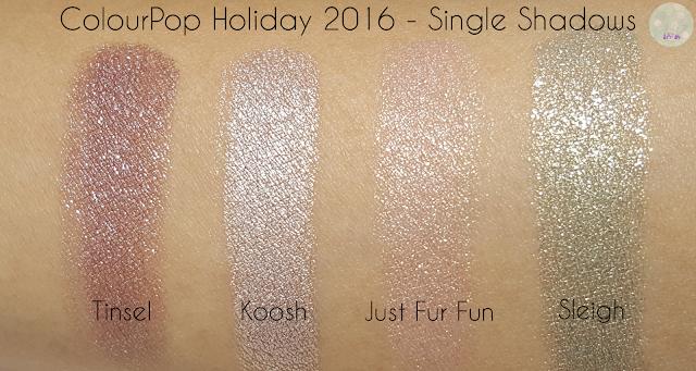 ColourPop Holiday 2016 - Single Shadows | Kat Stays Polished