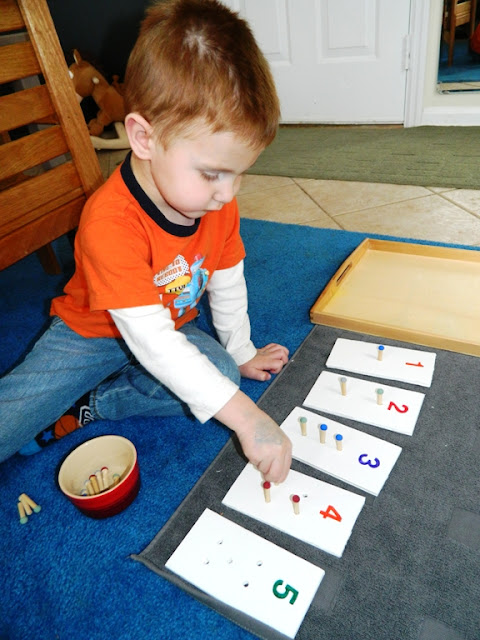 Introduction to Numbers: DIY Peg Board Game