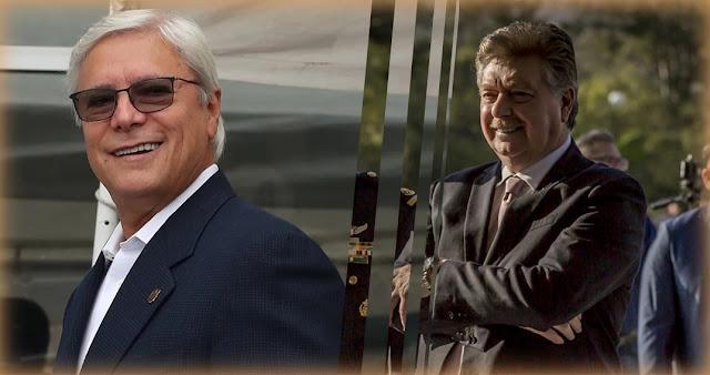 Gobernador de Baja California, Jaime Bonilla y  el exgobernador Kiko Vega