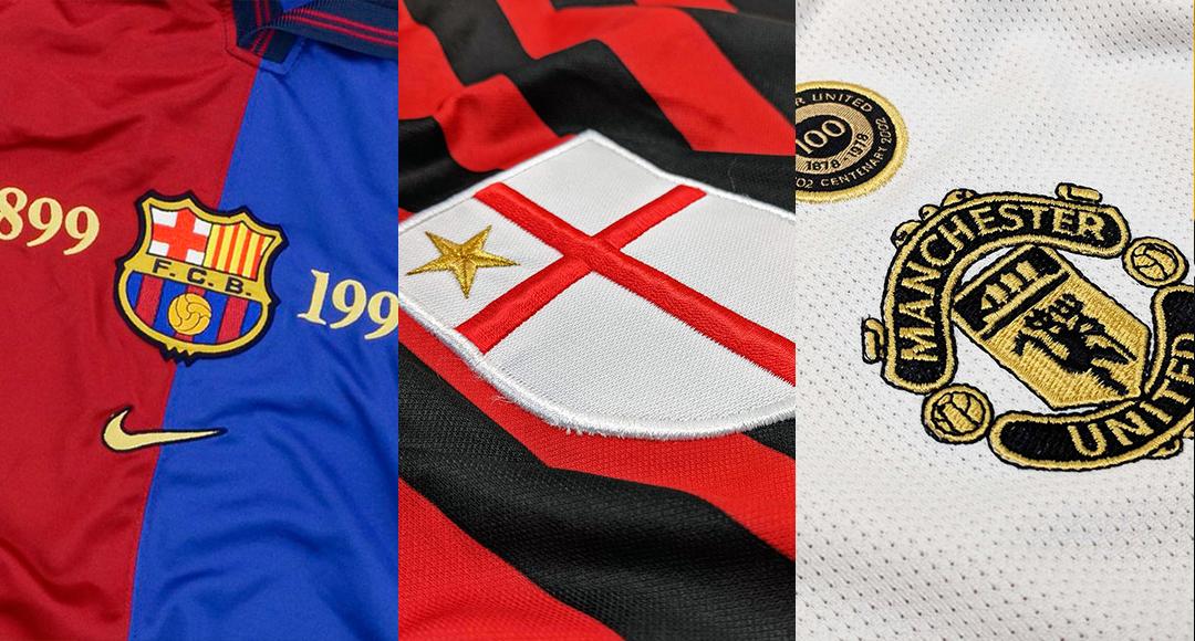 100% authentic 43ae0 17cbf Best Of - Centenary Crests & Kits | Barcelona, Man Utd ...