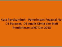 D3 Perawat, D3 Analis Kimia dan Staff - BNN Kota Paykumbuh (Peg Non PNS)