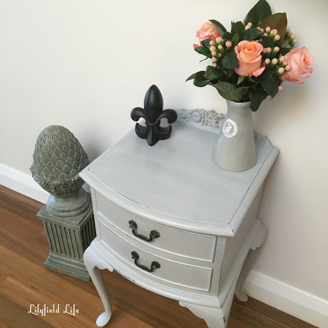 beautiful vintage cedar bedside table Lilyfield Life