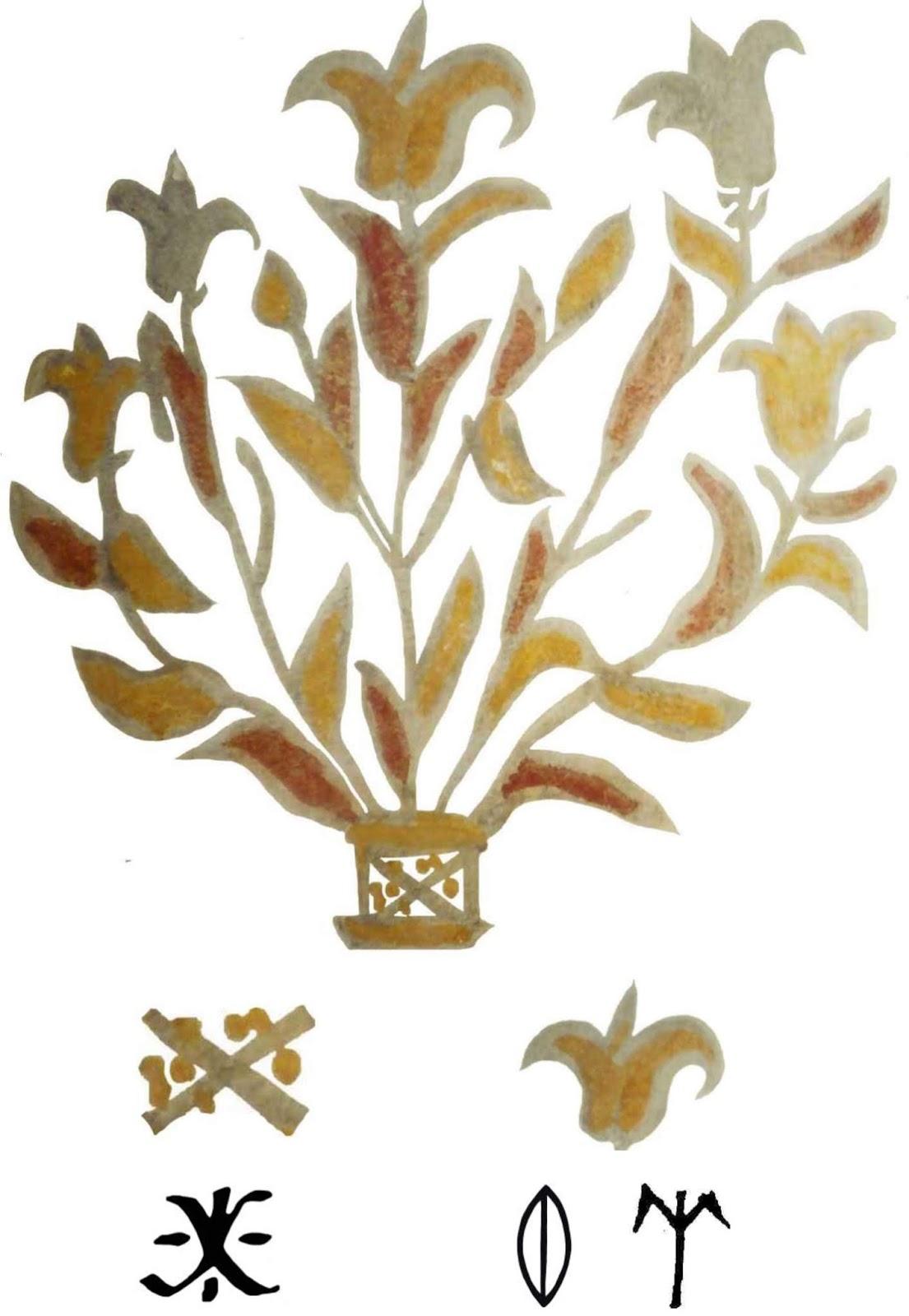 caf70b87b0 10. ábra. Nagykörűi honfoglalás kori veret az Isten olvasatú, növényi  ornamentikának tűnő hieroglifával