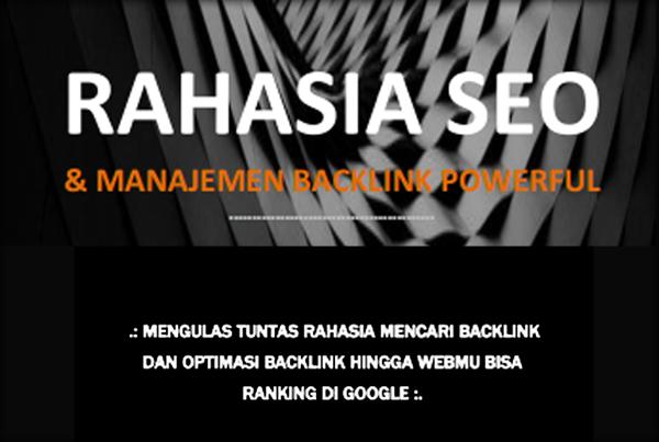 """""""Rahasia SEO"""" Backlink Mentoring"""