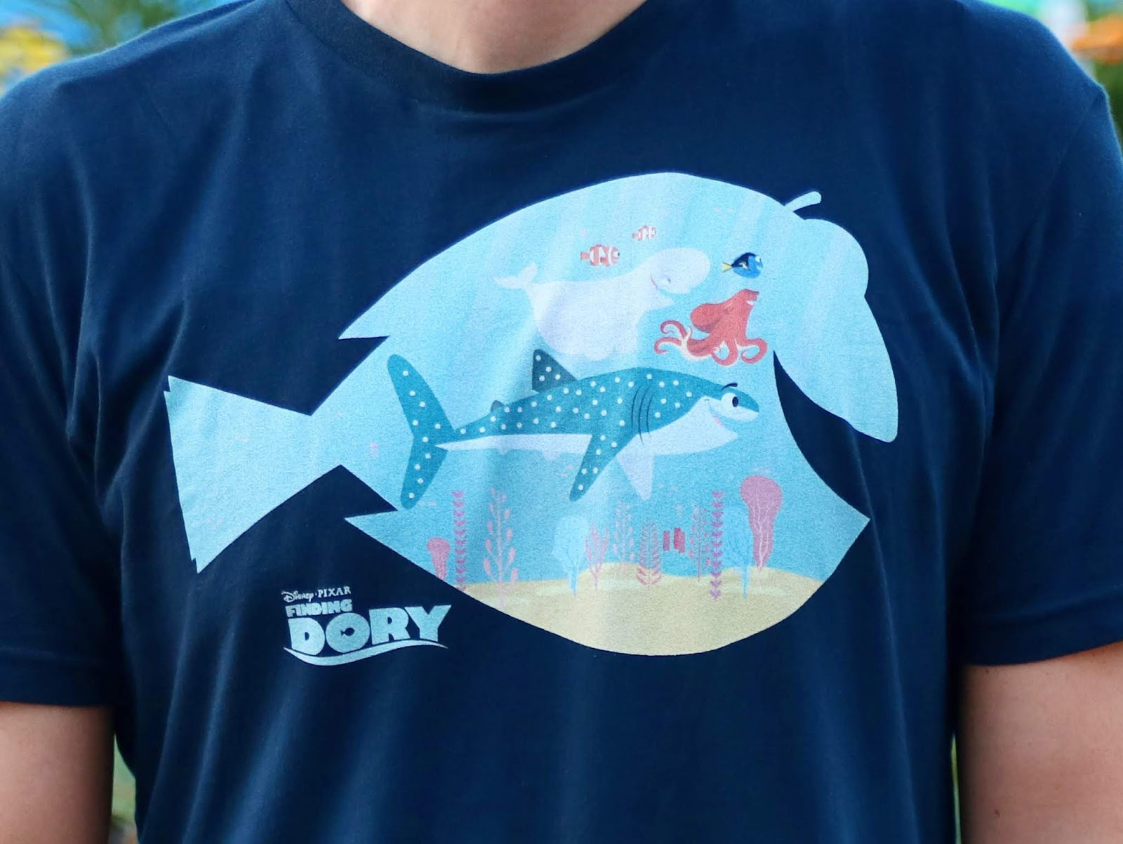 finding dory men tee shirt