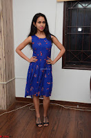 Pallavi Dora Actress in Sleeveless Blue Short dress at Prema Entha Madhuram Priyuraalu Antha Katinam teaser launch 076.jpg