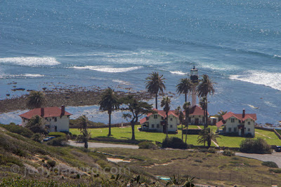 View of New Point Loma Lighthouse from above