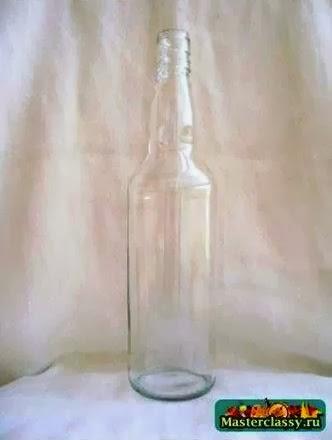 Cara membuat kerajinan tangan dari botol bekas (botol lukis) :