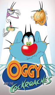 Edible Image Oggy and the cockroach