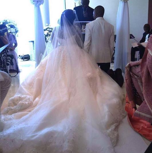 2 Photos: See Tolu Oniru's stunning wedding dress