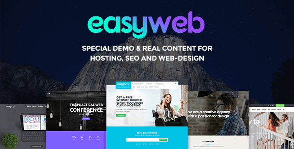 Easy web v2.2.7 WordPress Theme SEO Friendly Latest is Here!