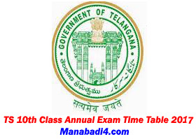 TS 10th Class Annual Exam Time Table 2017 download at www.bsetelangana.org.