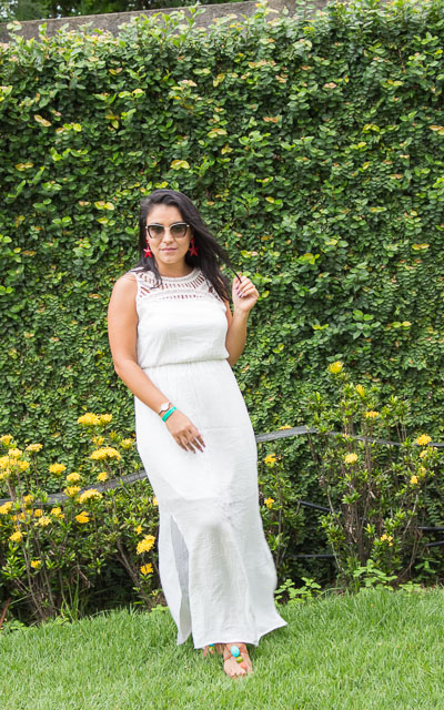 Look para o dia das mães: vestido branco longo