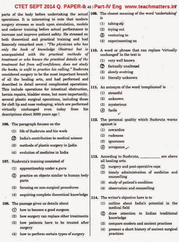 CTET SEPT 2014 Solved Q. PAPER-II Part-4 Eng-iii.image