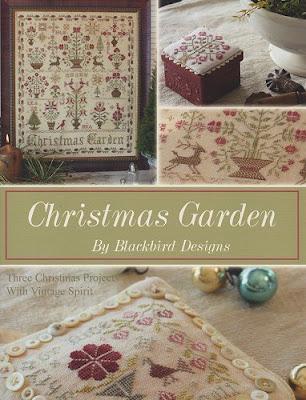 Stitching devotee for Christmas garden blackbird designs