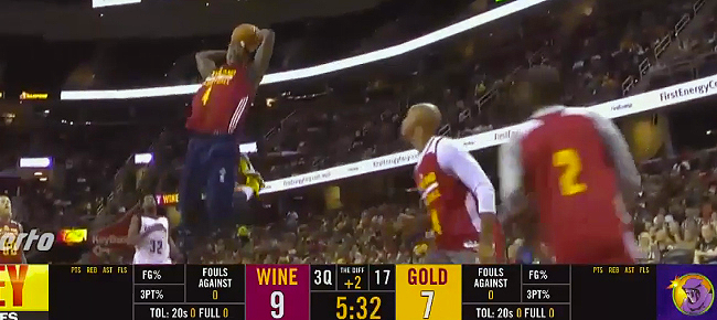 Kyrie Irving's Backboard Assist to Shumpert | Cavaliers Scrimmage (VIDEO)