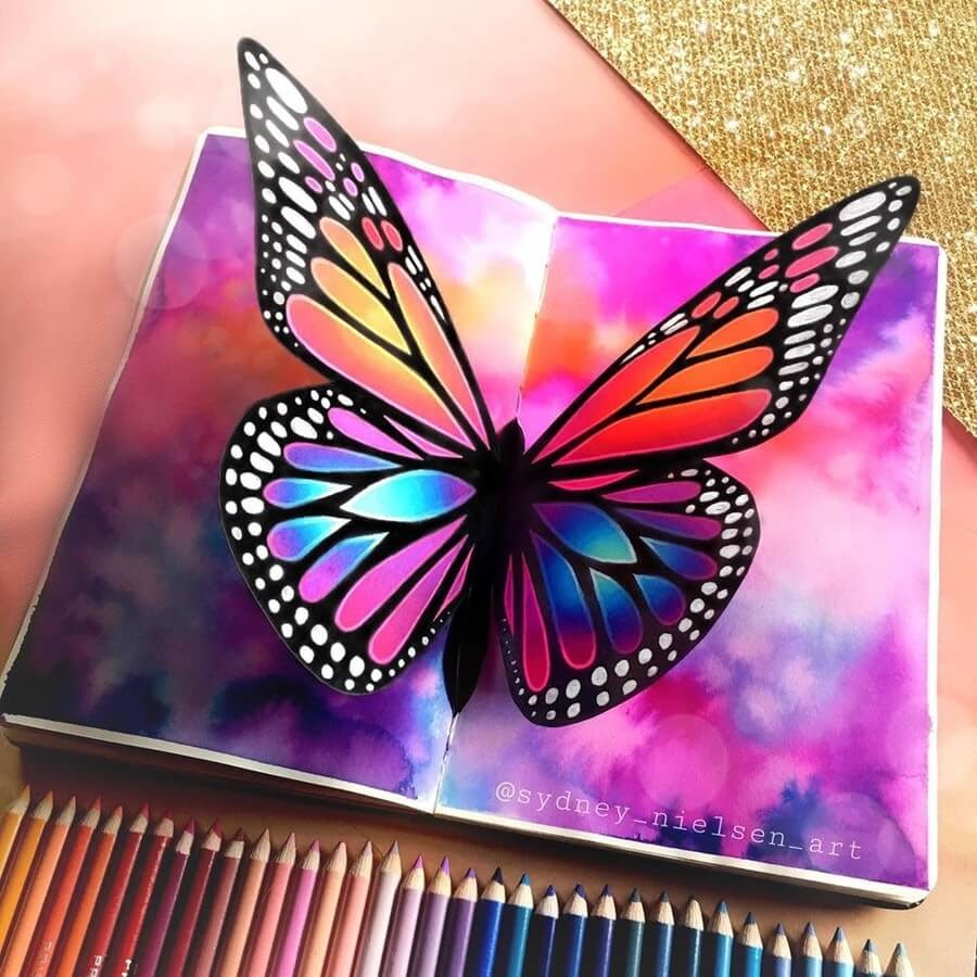 05-3D-Butterfly-Sydney-Nielsen-Pencil-Drawings-www-designstack-co