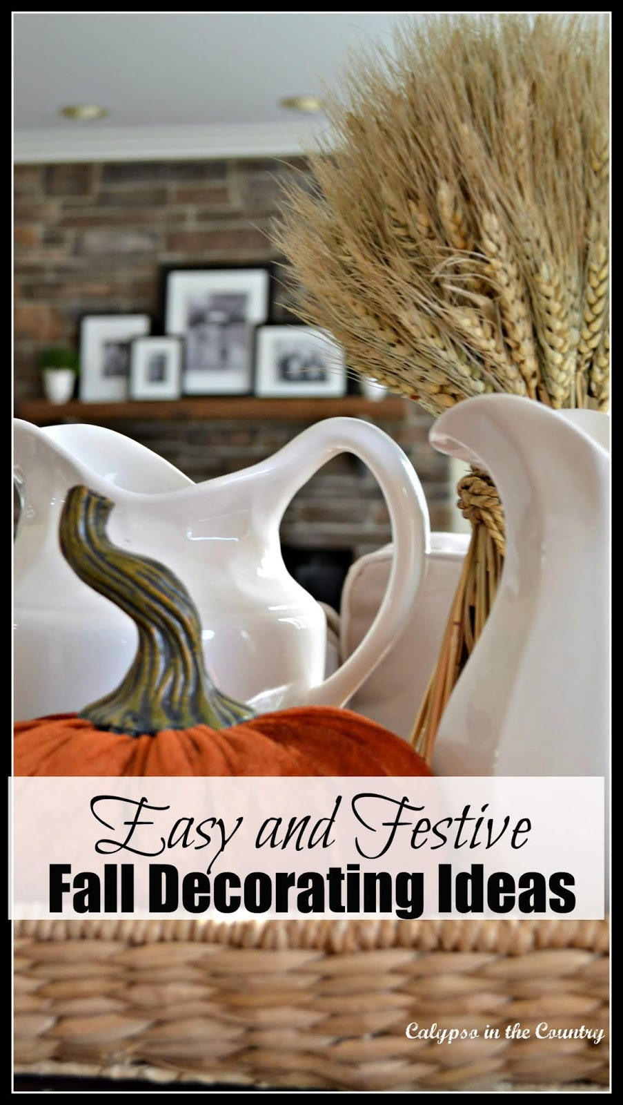 Easy and Festive Fall Decorating Ideas - A festive fall vignette