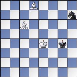 Final dos alfiles contra caballo, posición después de 30… Rg4