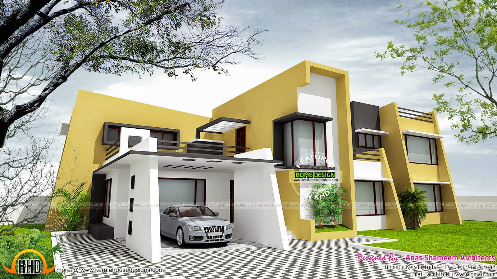 January 2015 kerala home design and floor plans for Contemporary house plans 2015