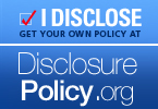 Disclosure Policy badge for websites
