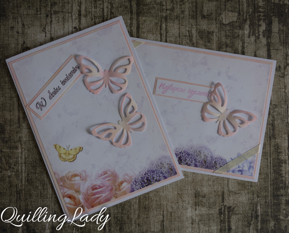 Quilling Lady Nameday And Birthday Cards With Beautiful Butterflies