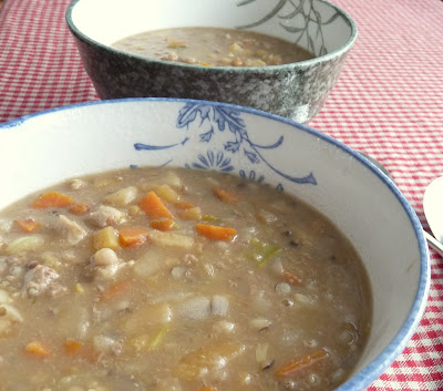 Scotch Broth with Dried Peas & Barley