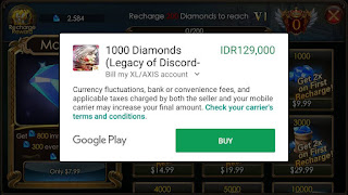cara memasang VIP & membeli diamond Legacy of discord