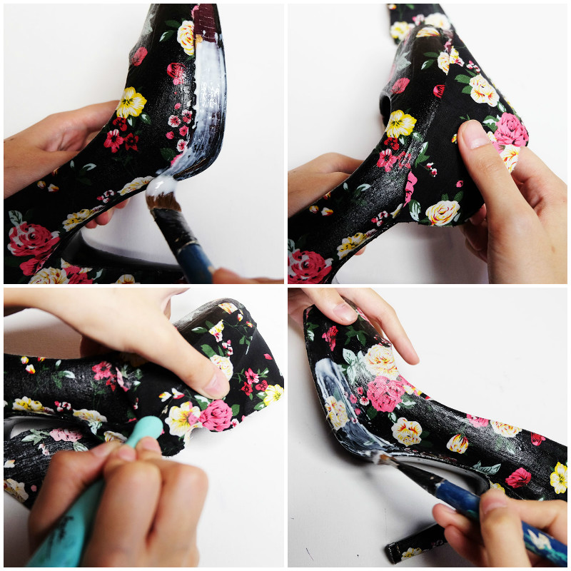 Bash Harry from Hey Bash gives an in-depth tutorial on how to make some DIY Fabric Shoes for under $20 with an old pair of heels
